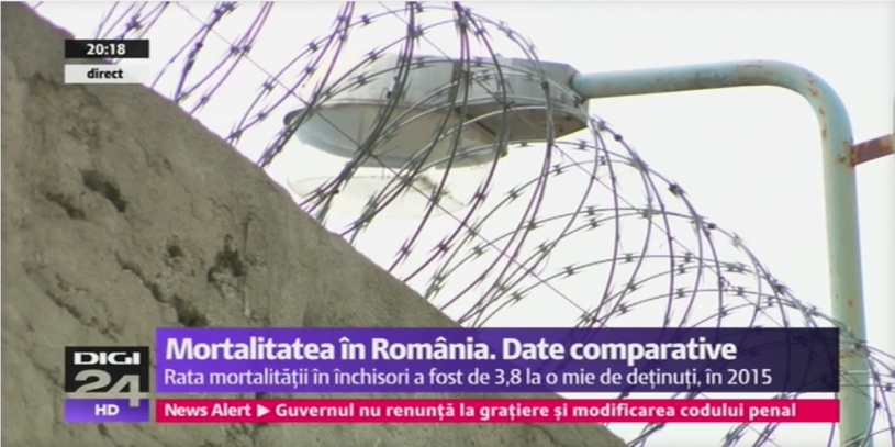 Mortalitatea in penitenciare, situatie comparativa