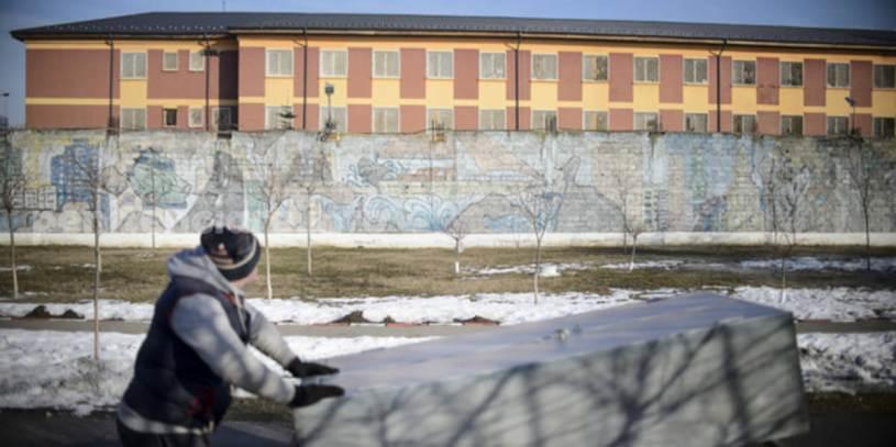 Penitenciarul Timisoara | Protest solitar la inaltime