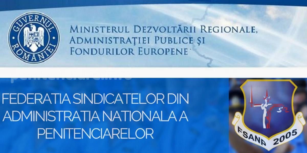Sedinta Sindicate si Ministerul Dezvoltarii Regionale – deblocare posturi penitenciare