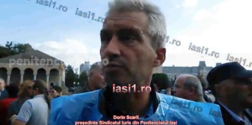 Sindicatul IURIS Iasi protesteaza in strada pentru drepturile angajatilor din penitenciare