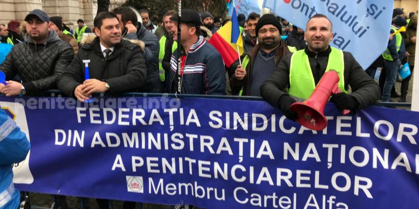 FSANP si SNPPC au protestat azi. S-au purtat discutii si cu conducerea ANP.