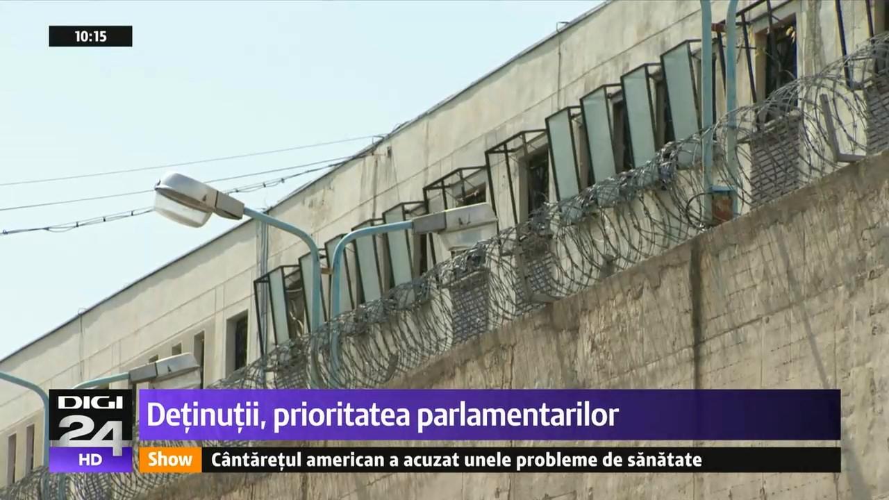 Detinutii, prioritatea parlamentarilor
