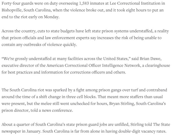 Lipsa de personal in penitenciare, consecinte grave