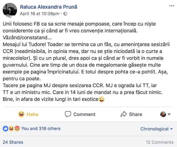 Pruna vs Toader, rezultat indecis
