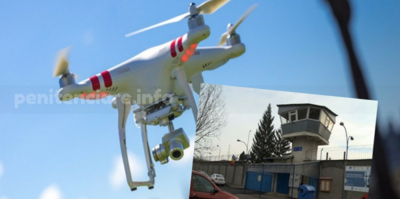 Penitenciarul Rahova survolat de drone