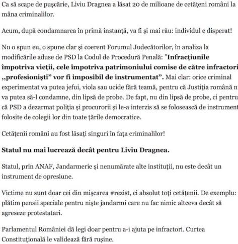 Dictatura Dragnea-Tariceanu a legalizat crima si violenta. E dreptul cetatenilor sa se apere!