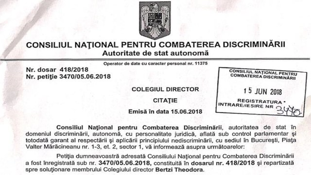 Sinecuristul Toader anchetat de CNCD