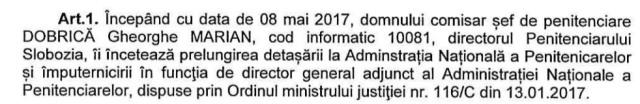OMJ 1377/C/2017 Imputernicire DG mai 2017