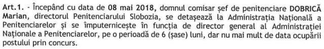 OMJ 1543/C/2018 imputernicire DG ANP mai 2018