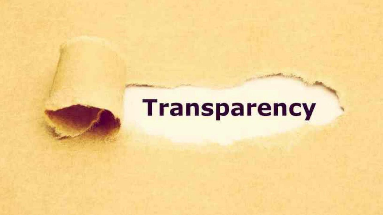 Profesionistii nu fug de transparenta