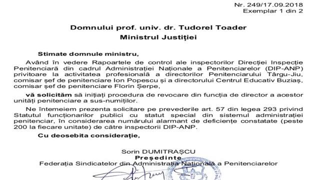 FSANP solicita revocarea lui Ion Popescu si a lui Florin Serpe