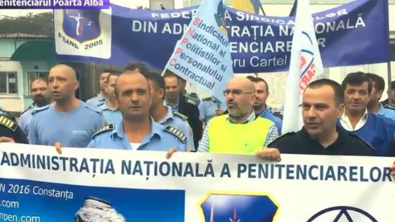 MASS-MEDIA | Protestul angajatilor din Penitenciarul Poarta Alba