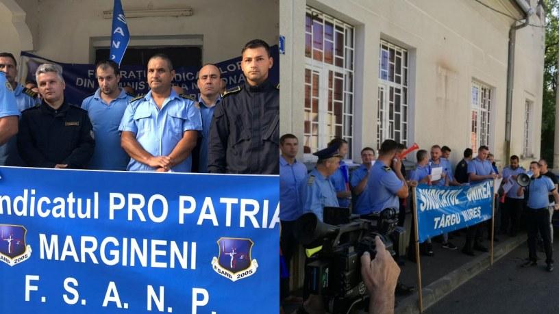 PRO TV & PRESA LOCALA | Angajatii din Penitenciarul Marginei si Targu-Mures protesteaza