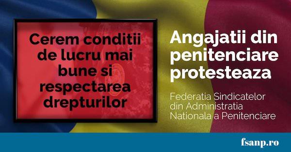 Sindicalistiidin penitenciare continua protestele in strada