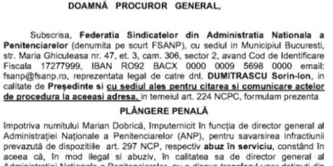 Plangere penala Marian Dobrica masuri abuzive impotriva unui angajat